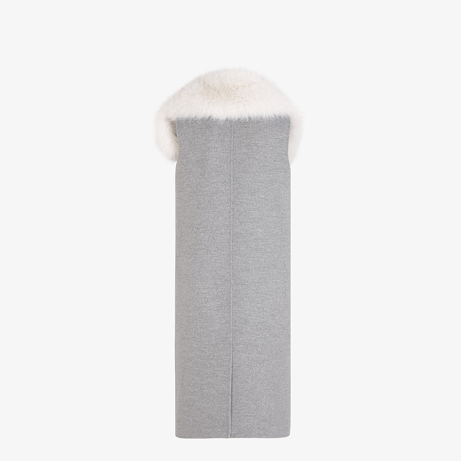 FENDI GILET - Grey cashmere gilet - view 2 detail
