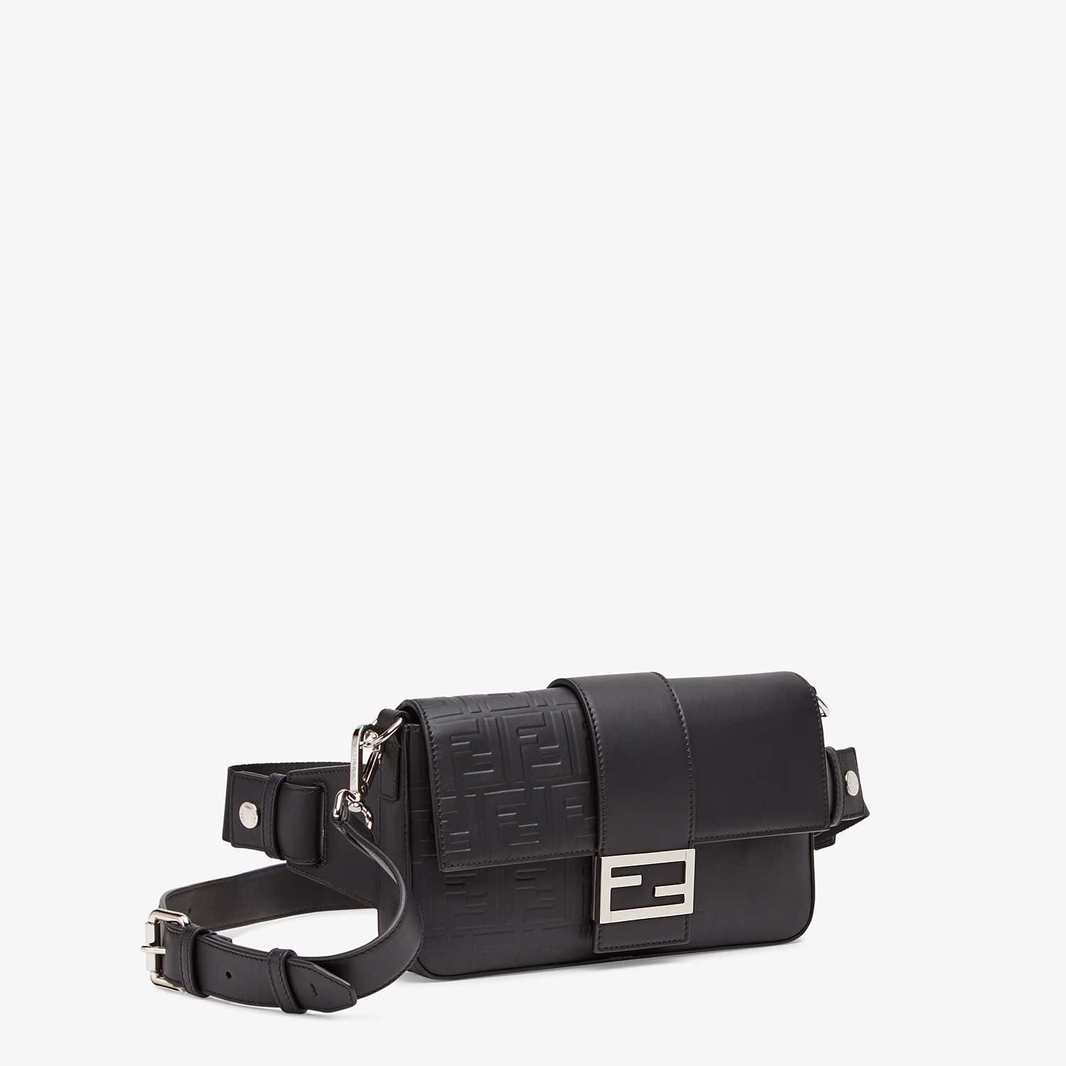 FENDI BAGUETTE - Black calfskin bag - view 2 detail