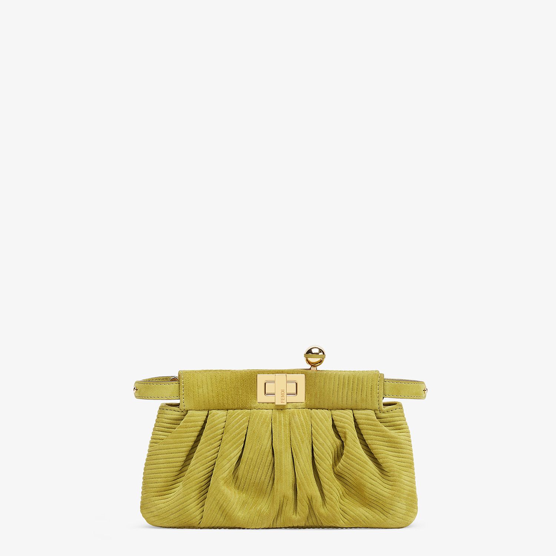 FENDI PEEKABOO CLICK - Small green suede bag. - view 1 detail