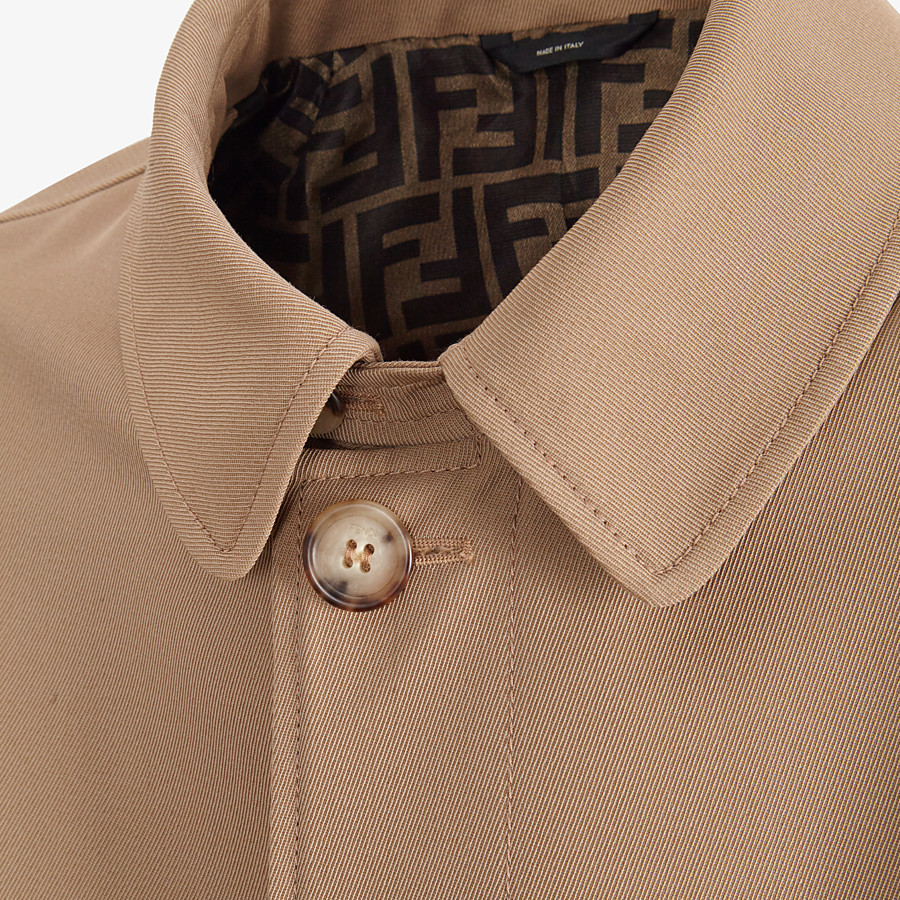 FENDI TRENCH COAT - Beige wool trench coat - view 3 detail