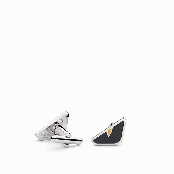 FENDI 袖扣 - 琺瑯黑色金屬袖扣 - view 1 小型縮圖