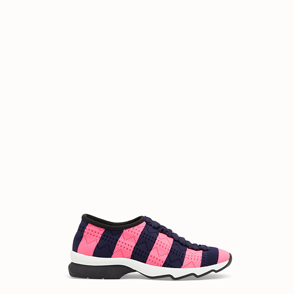 FENDI SNEAKERS - Two-tone fabric sneakers - view 1 small thumbnail