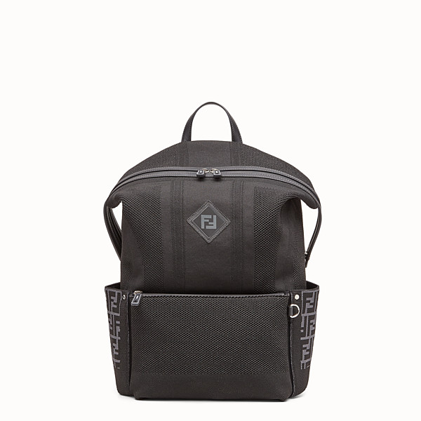 FENDI BACKPACK - Black tech knit backpack - view 1 small thumbnail
