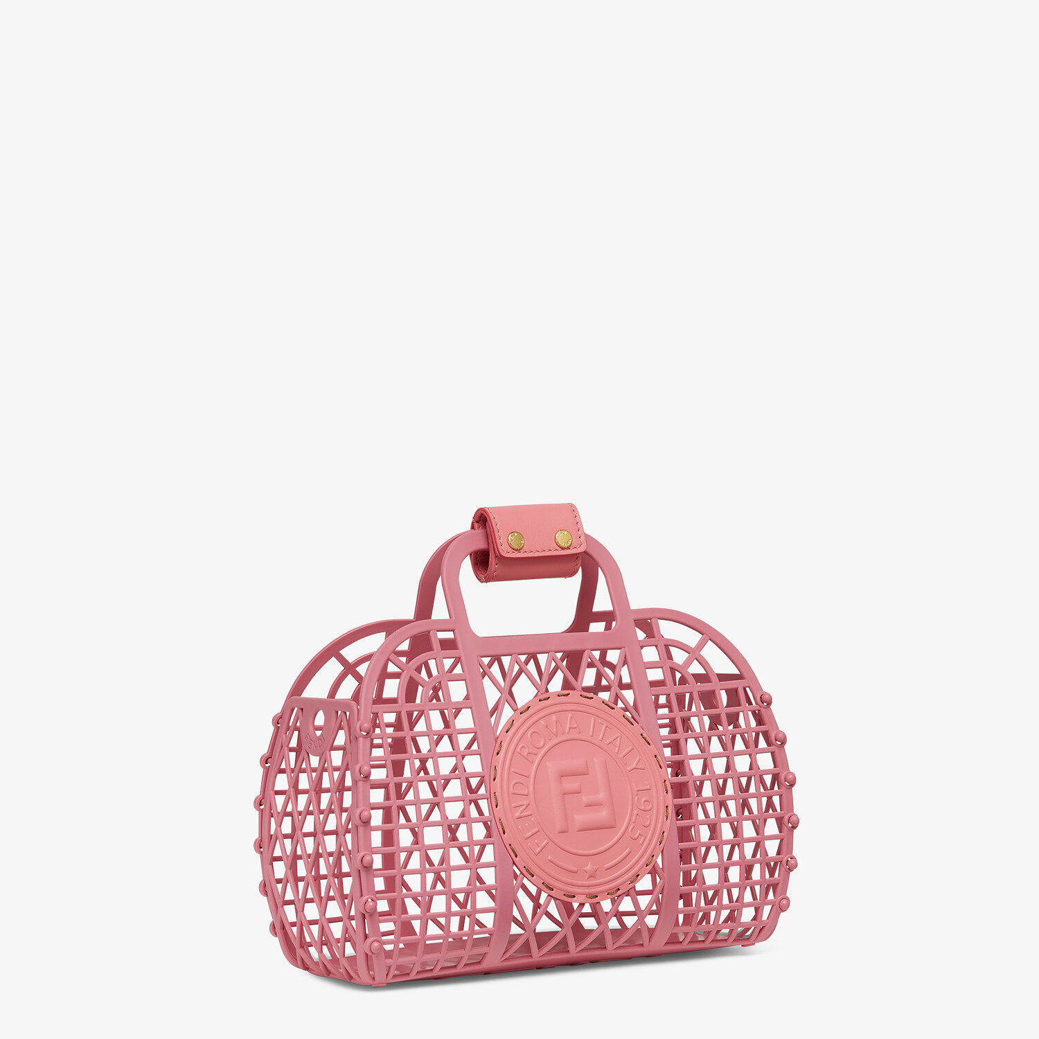 FENDI FENDI BASKET SMALL - Pink recycled plastic mini-bag - view 2 detail