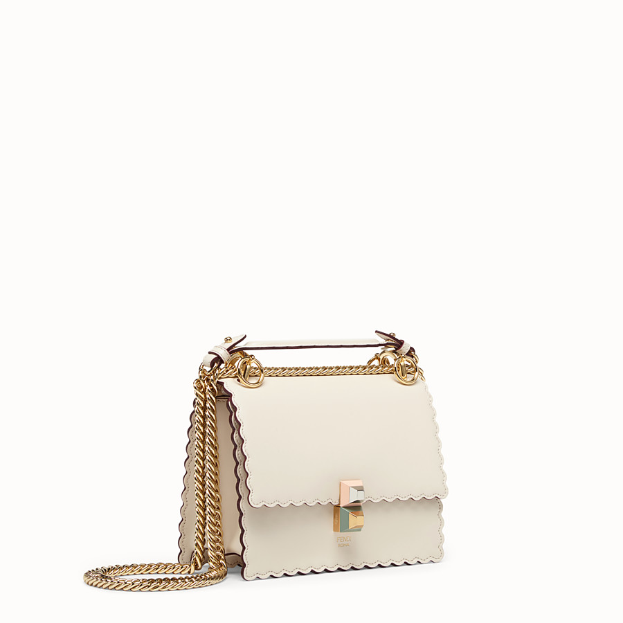 FENDI KAN I SMALL - Mini sac en cuir blanc - view 2 detail