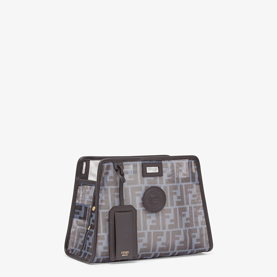 FENDI SMALL PEEKABOO DEFENDER - Light blue mesh Peekaboo cover - view 2 detail