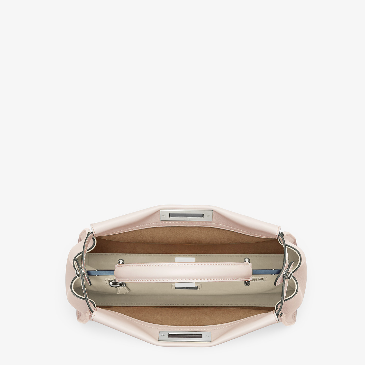 FENDI PEEKABOO ICONIC MEDIUM - Pink leather bag - view 4 detail