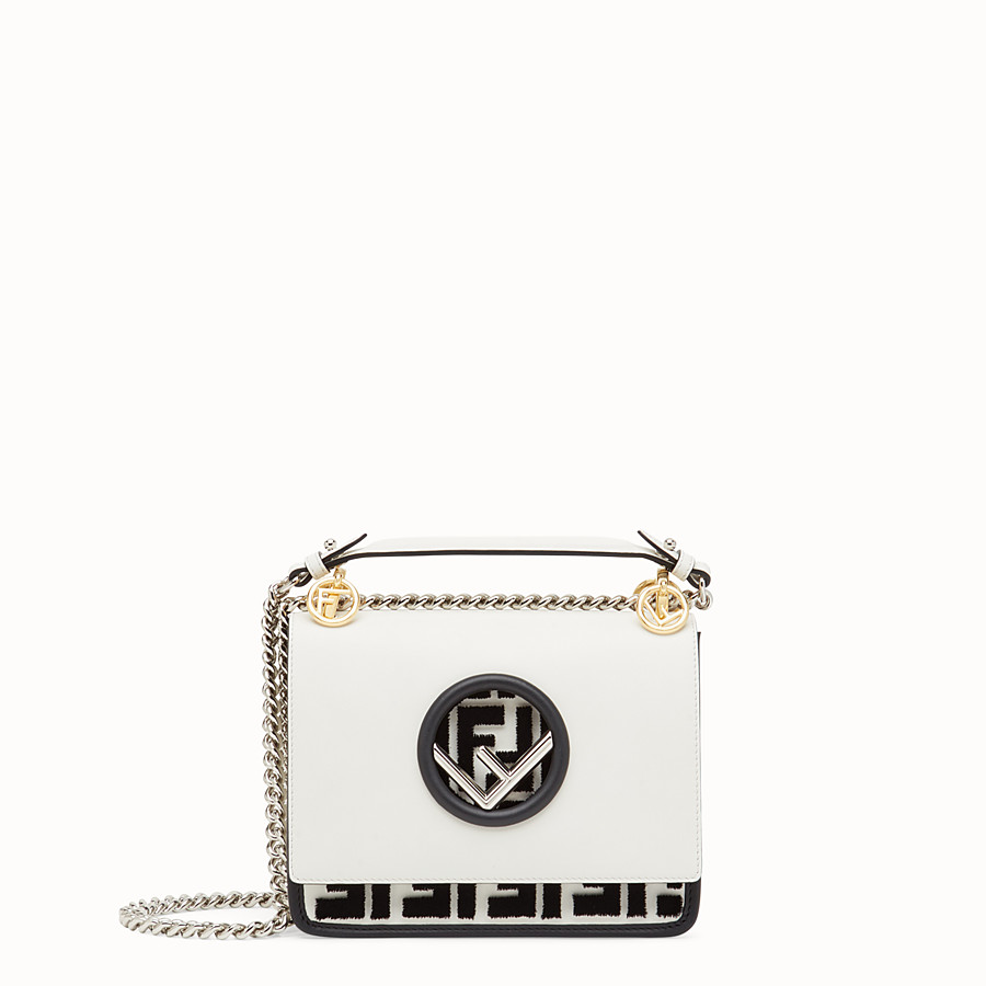 FENDI KAN I F SMALL - White leather minibag - view 1 detail