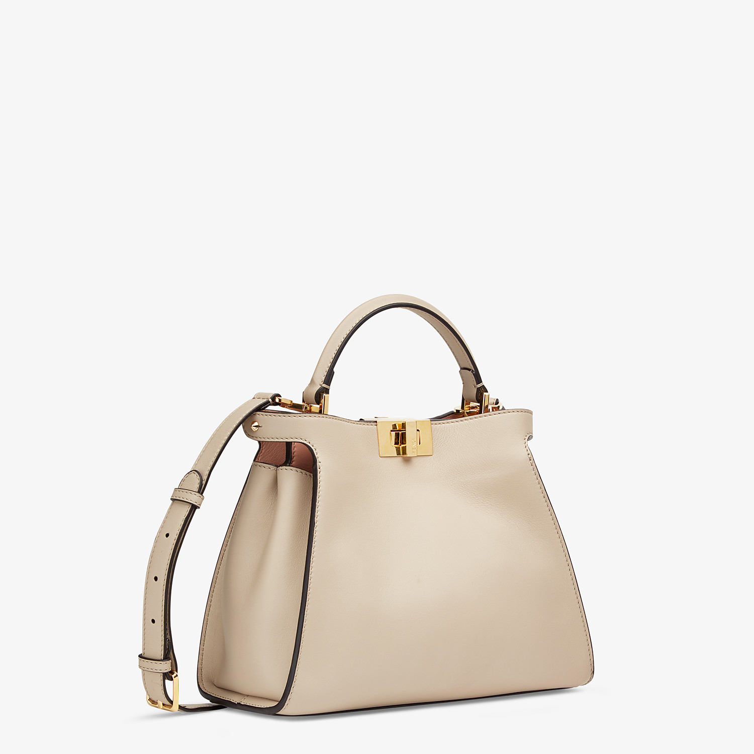 FENDI PEEKABOO ICONIC ESSENTIALLY - Tasche aus Leder in Beige - view 2 detail