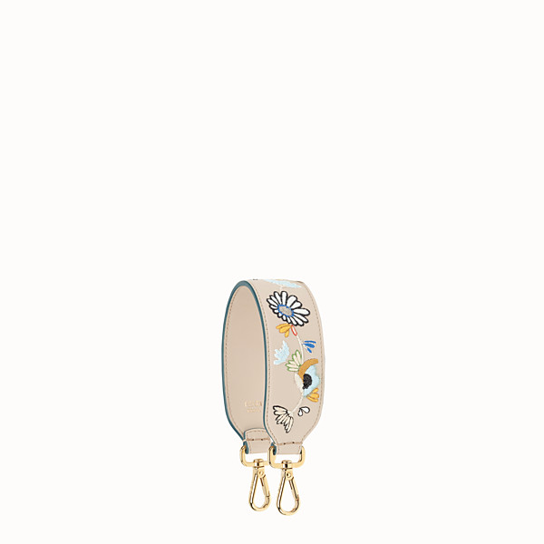 FENDI MINI STRAP YOU - Embroidered leather shoulder strap - view 1 small thumbnail