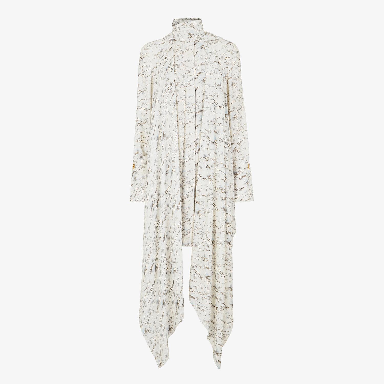 FENDI DRESS - White satin crêpe dress - view 1 detail