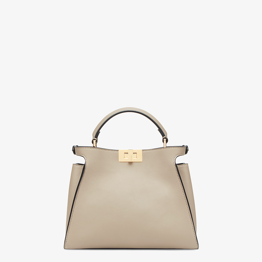FENDI PEEKABOO ICONIC ESSENTIALLY - Dove grey leather bag - view 3 detail