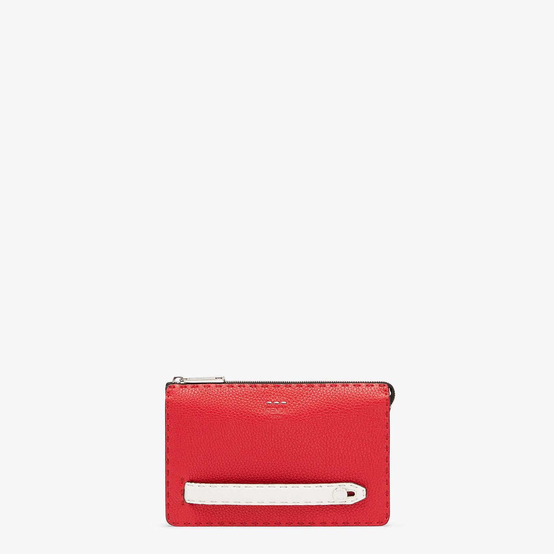 FENDI CLUTCH - Multicolour leather pochette - view 1 detail