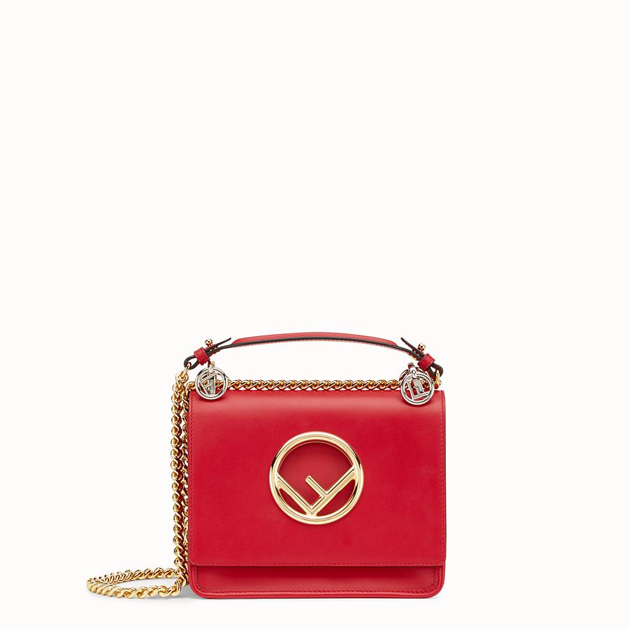 FENDI KAN I F SMALL - Red leather mini-bag - view 1 detail