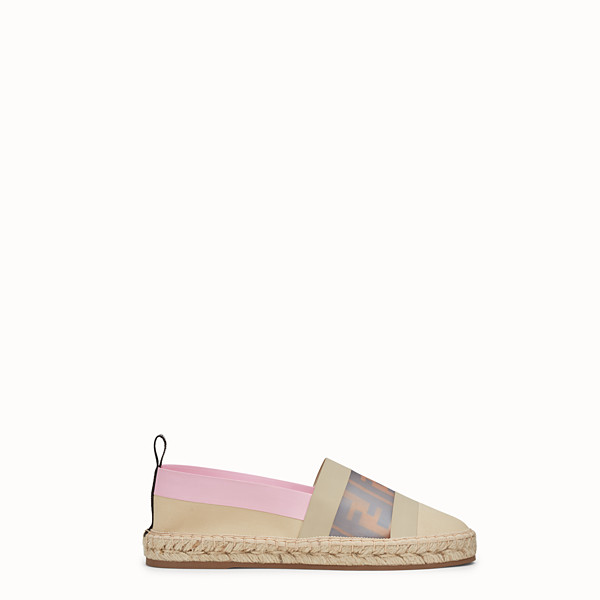 FENDI ESPADRILLES - Beige canvas espadrilles. - view 1 small thumbnail