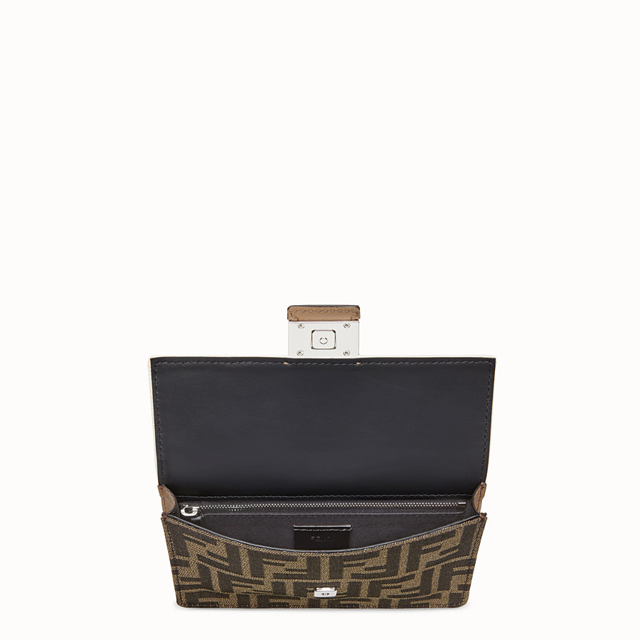 FENDI BAGUETTE POUCH - Brown fabric bag - view 4 detail