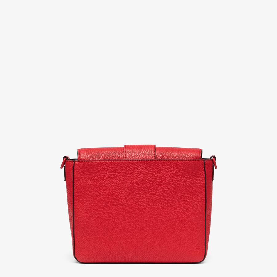 FENDI BAGUETTE MESSENGER BAG MEDIUM - Red leather bag - view 3 detail