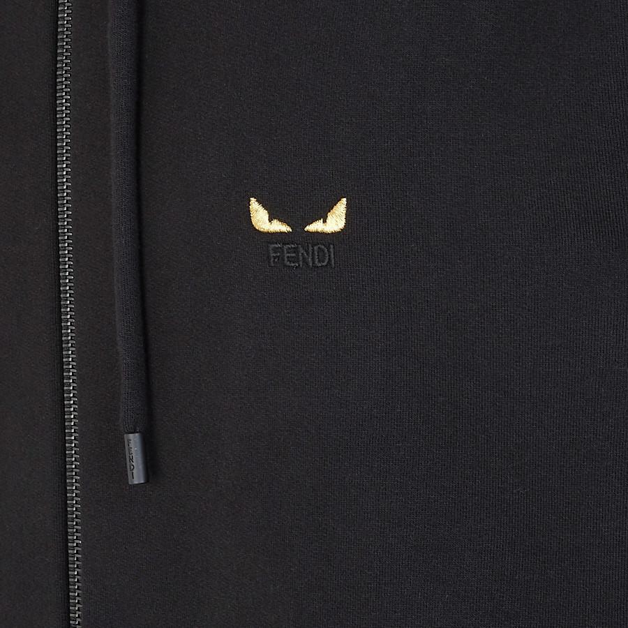 FENDI SWEATSHIRT - Black jersey jumper - view 3 detail