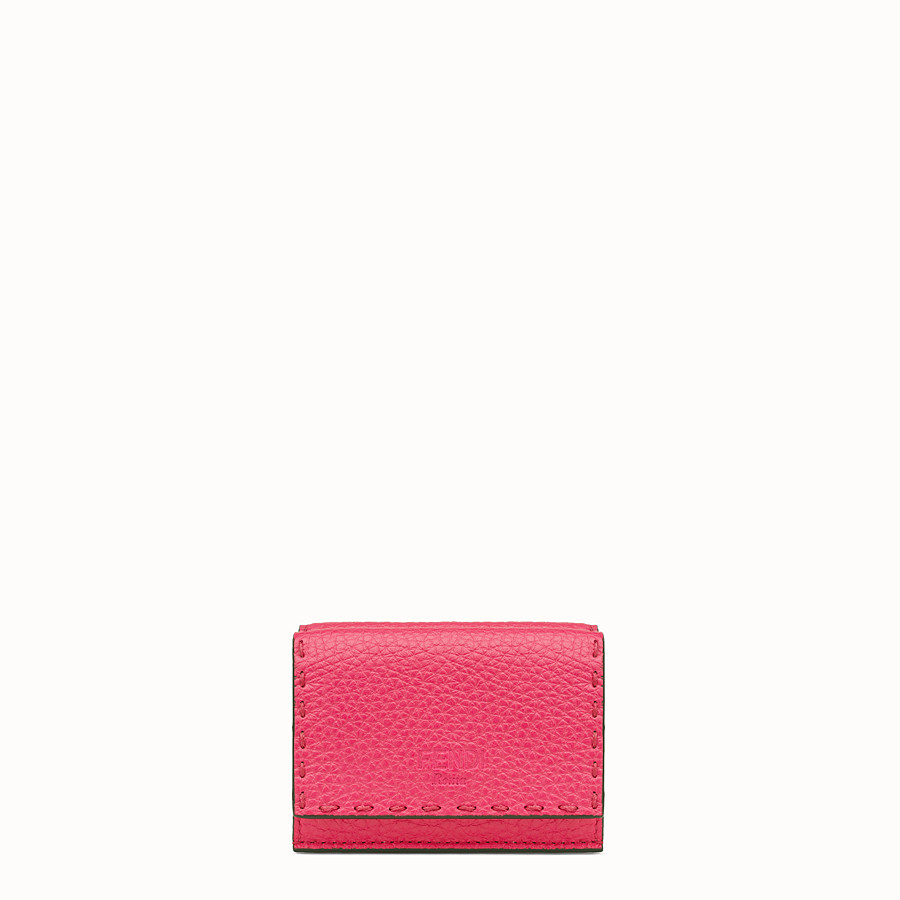 FENDI MICRO TRIFOLD - Fendi Roma Amor leather wallet - view 1 detail