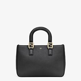 FENDI FF TOTE SMALL - Black leather bag - view 1 thumbnail