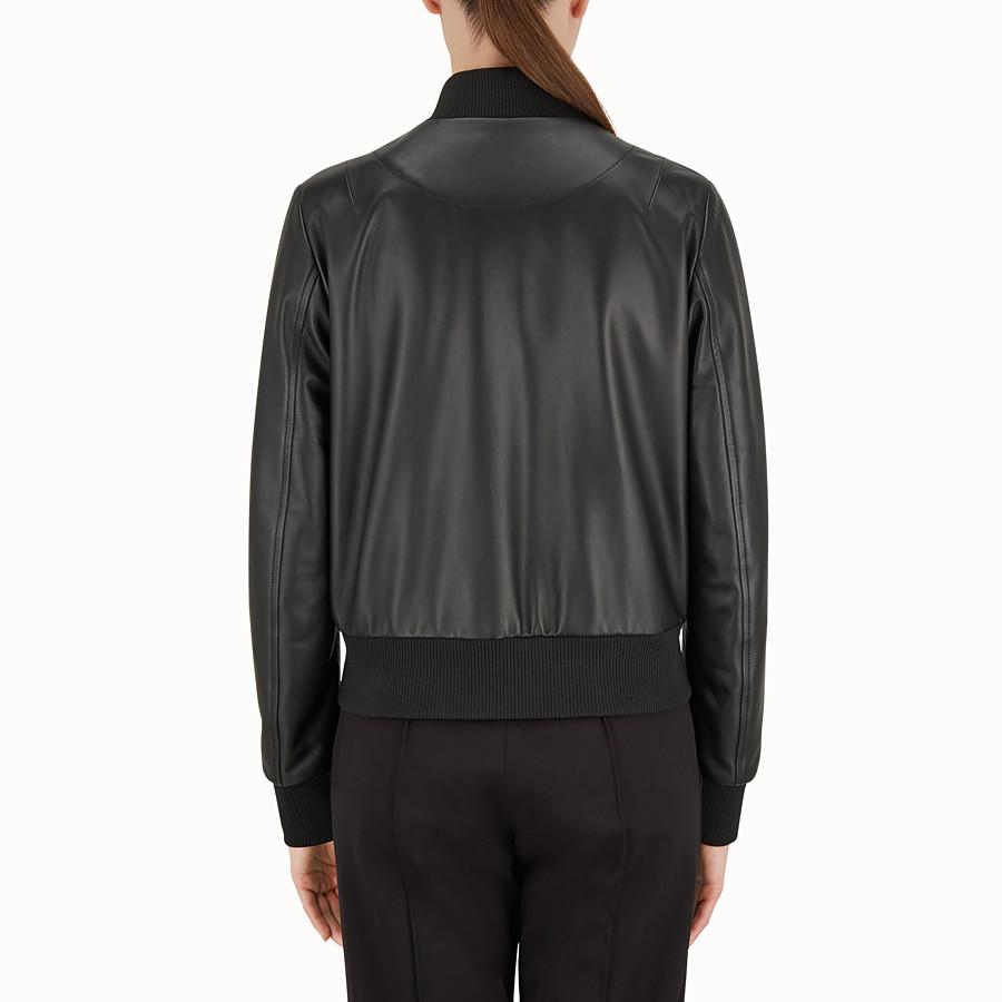 FENDI JACKE - Jacke aus schwarzem Leder - view 2 detail