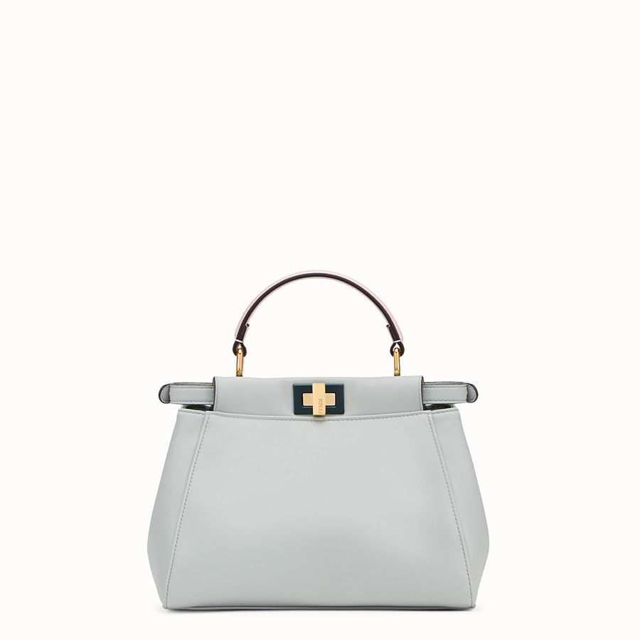 FENDI PEEKABOO MINI - Grey leather bag - view 3 detail