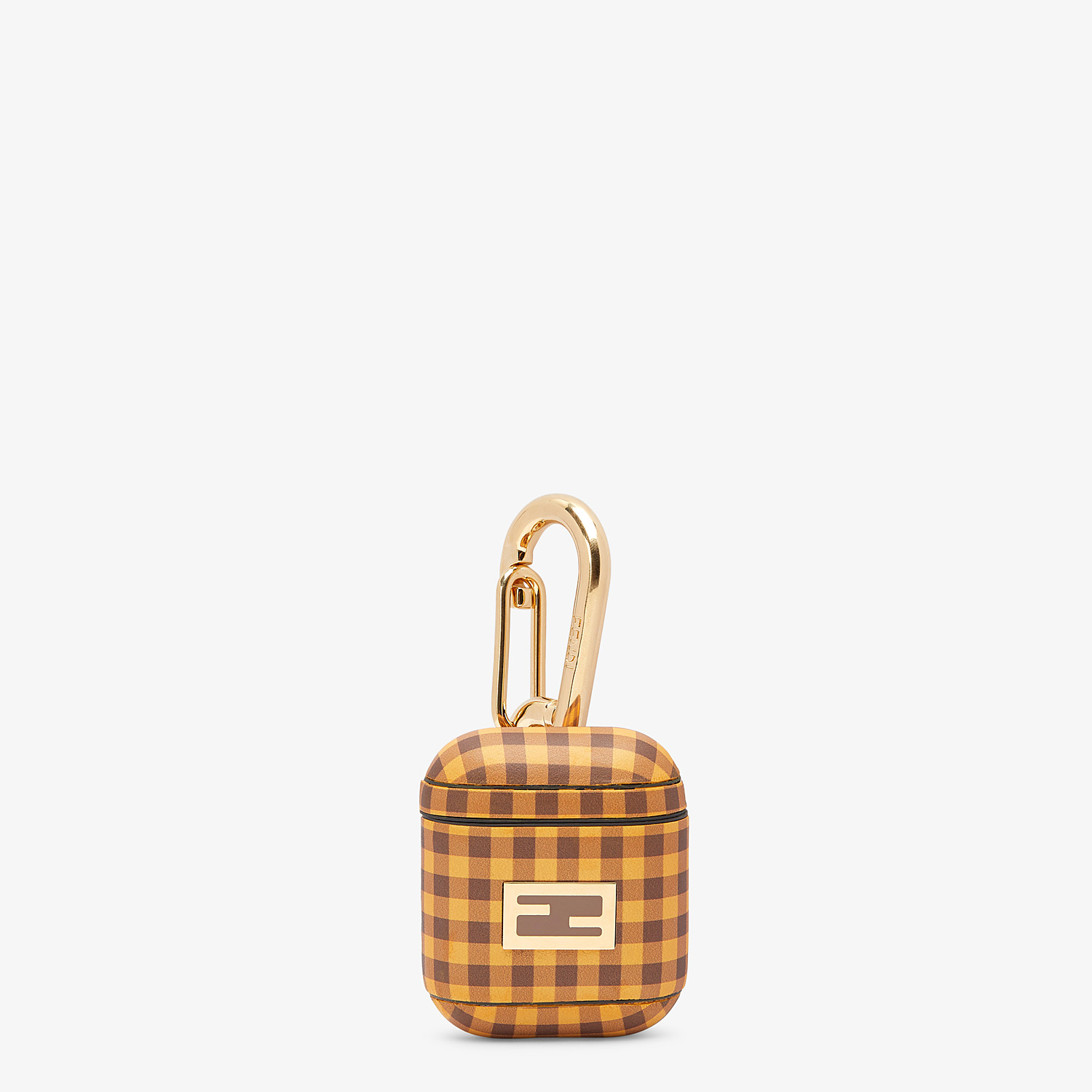 FENDI AIRPODS COVER - Brown leather cover - view 1 detail