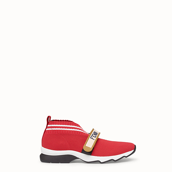 FENDI SNEAKERS - Red fabric sneakers - view 1 small thumbnail