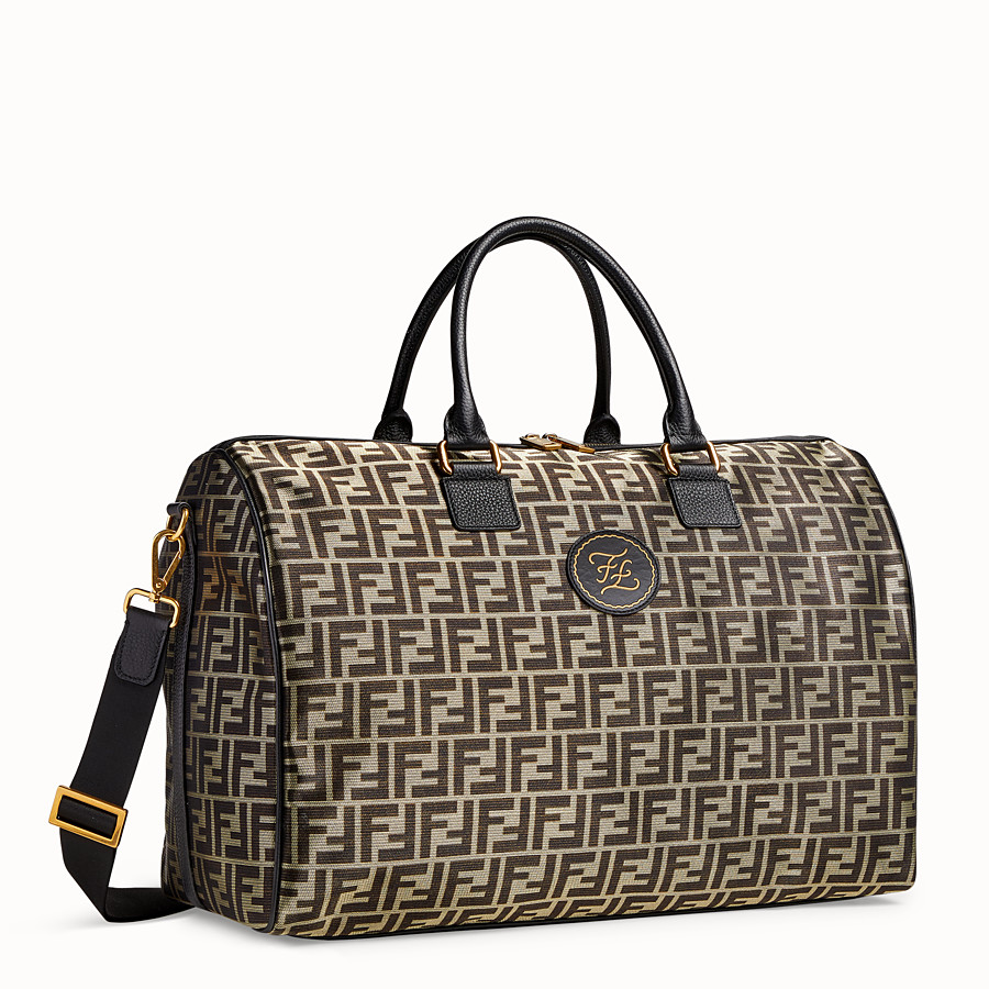 FENDI TRAVEL BAG - Large gold-colour fabric bag - view 2 detail