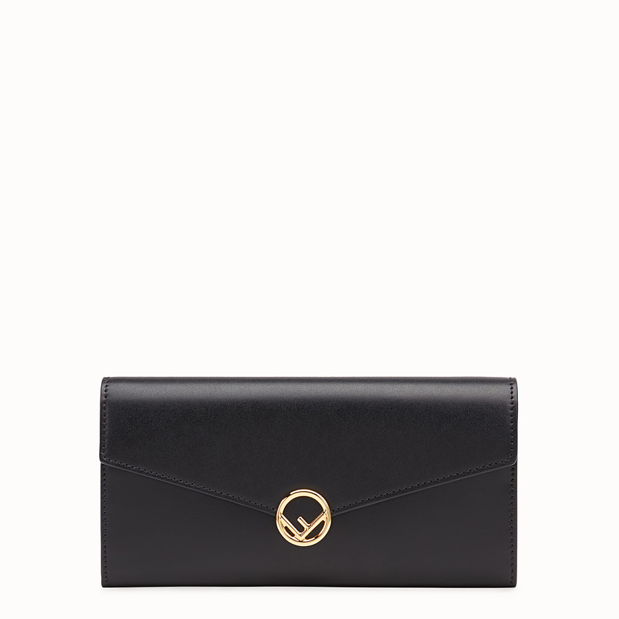 f23946cc0cf Black leather wallet - CONTINENTAL | Fendi