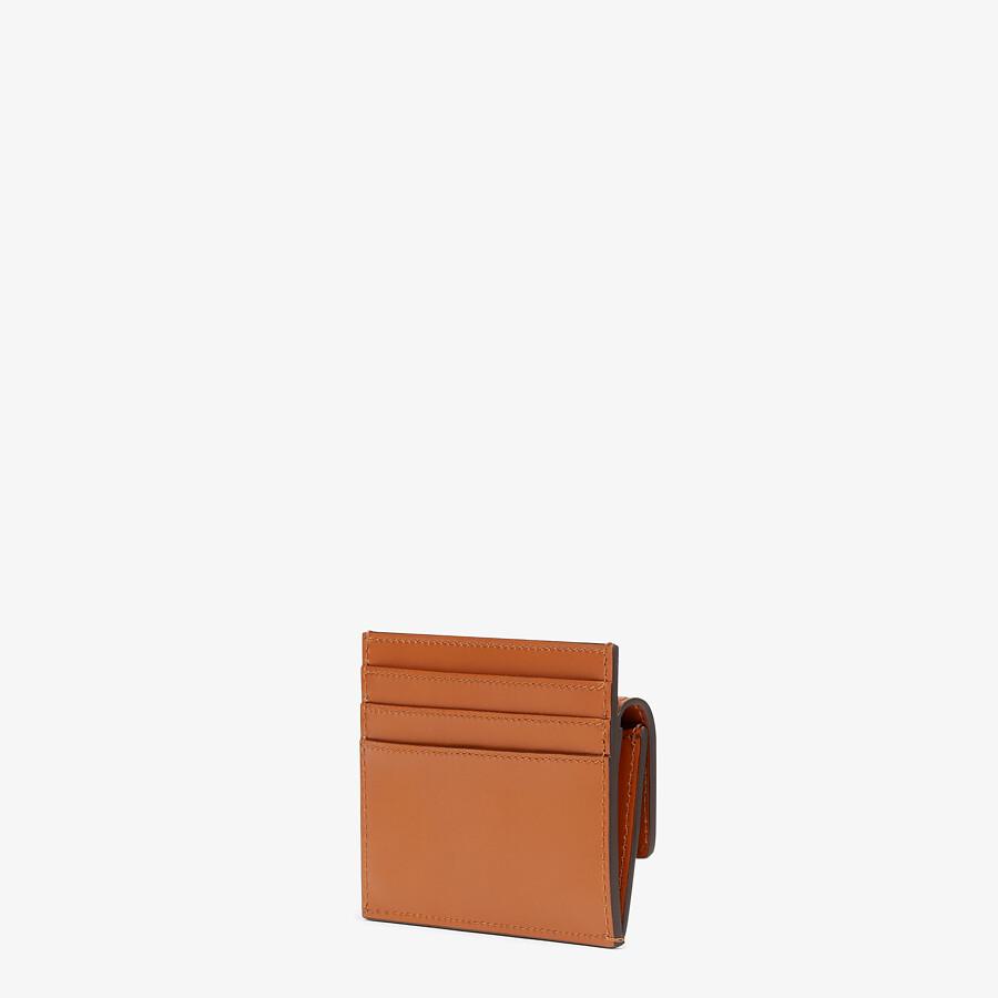 FENDI CARD HOLDER - Brown leather card holder - view 2 detail