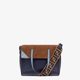 FENDI FENDI FLIP MEDIUM - Dark blue leather bag - view 1 thumbnail