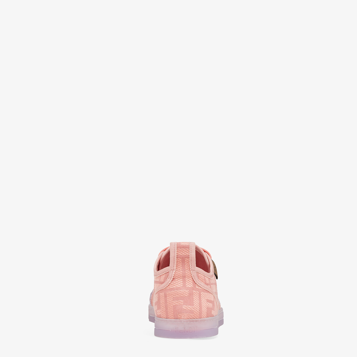 FENDI SNEAKERS - Pink canvas low tops - view 3 detail