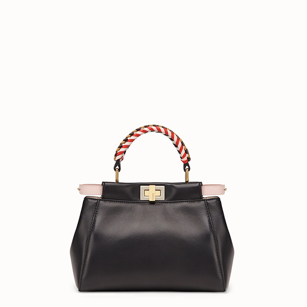 FENDI PEEKABOO ICONIC MINI - Black nappa leather bag - view 1 small thumbnail