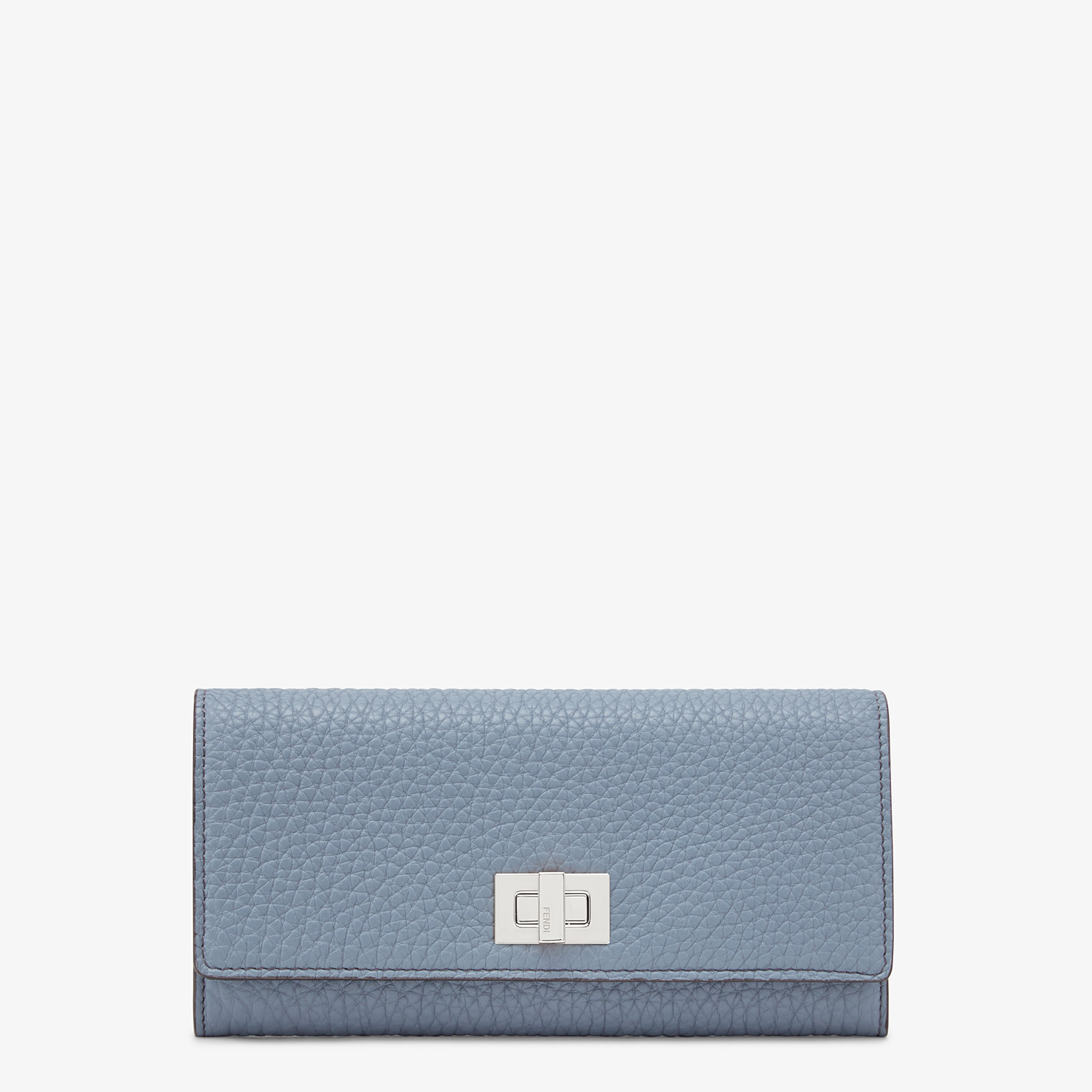FENDI CONTINENTAL - Light blue leather wallet - view 1 detail