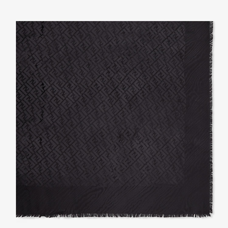 FENDI SCIALLE FF - Scialle in seta nera - vista 1 dettaglio