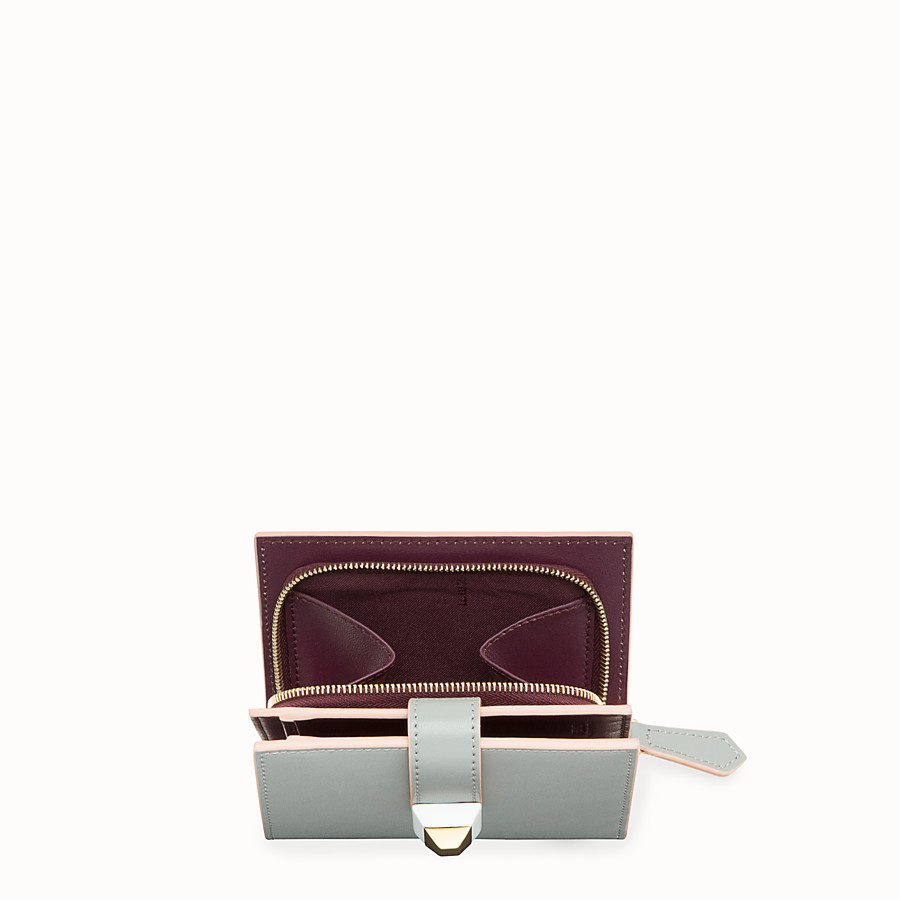 FENDI BIFOLD - Grey compact leather wallet - view 4 detail