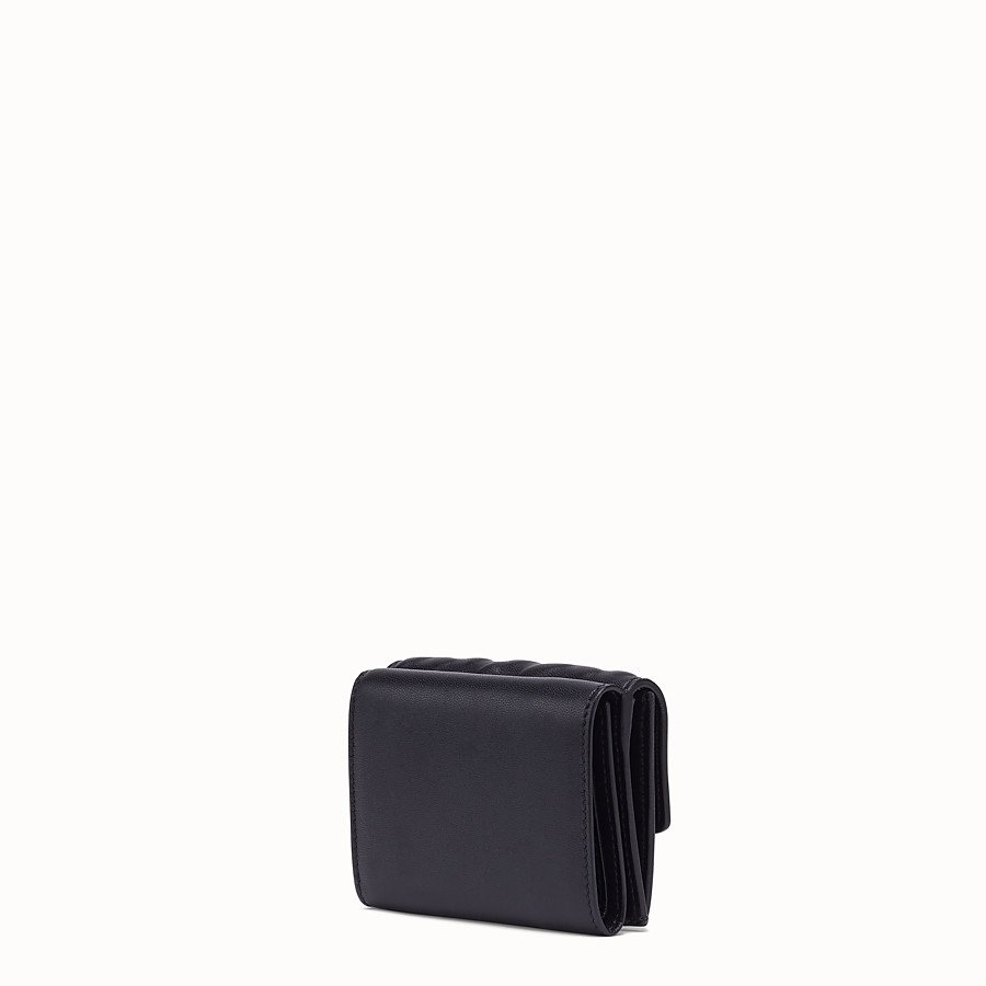 FENDI MICRO TRIFOLD - Black nappa leather wallet - view 2 detail