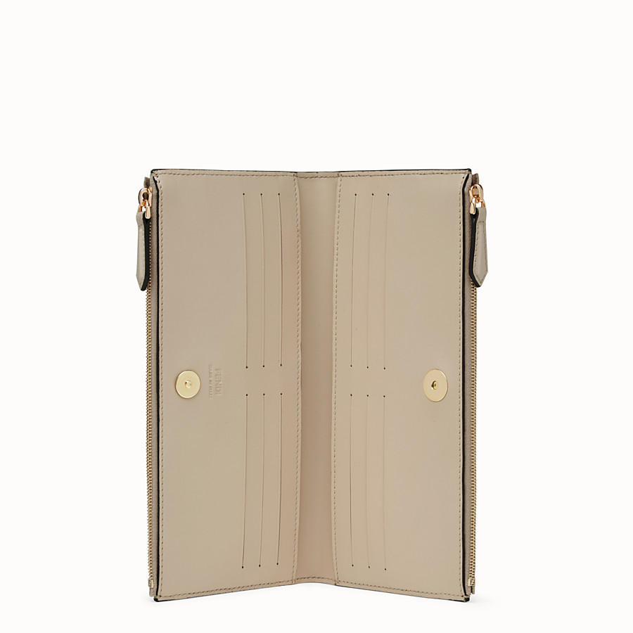 FENDI BIFOLD - Beige leather wallet - view 3 detail