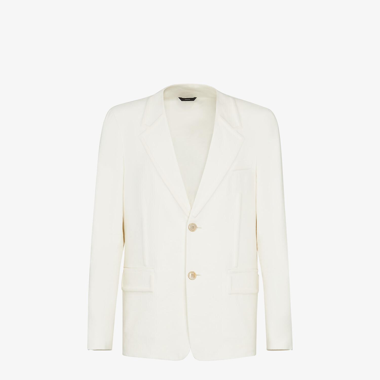 FENDI JACKET - White linen blazer - view 1 detail
