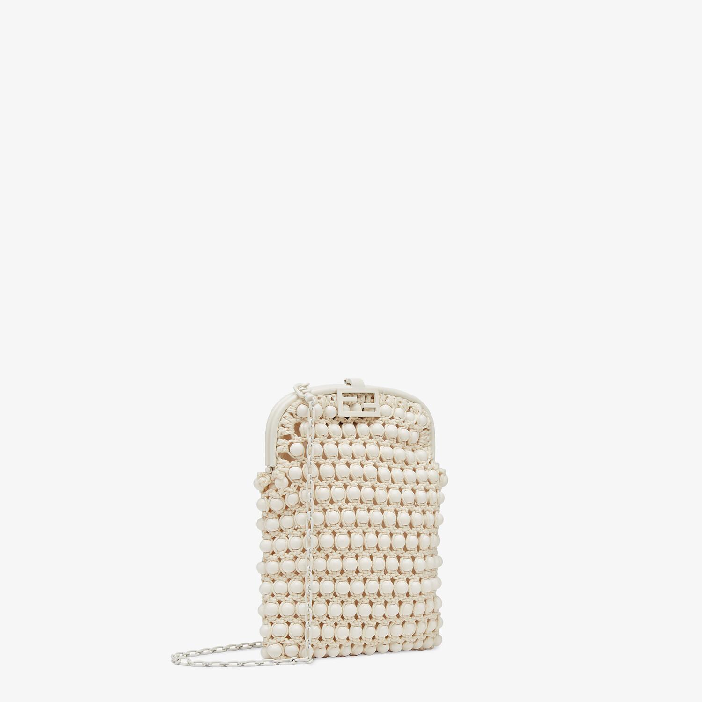 FENDI BAGUETTE PHONE BAG - White lace mini-bag - view 2 detail