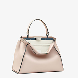 FENDI PEEKABOO ICONIC MEDIUM - Pink leather bag - view 2 thumbnail