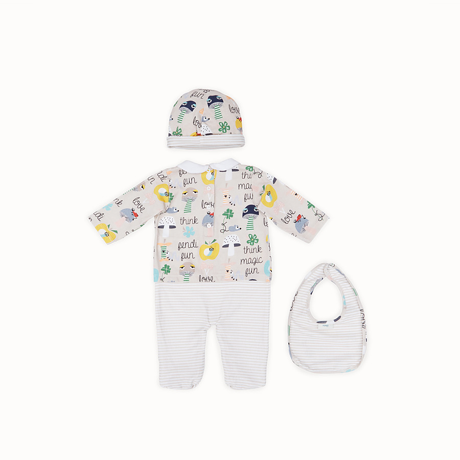 FENDI BABY BUNX KIT - Printed and multicolour cotton Baby Boy Kit - view 2 detail