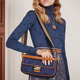 FENDI BAGUETTE - Blue denim bag - view 2 thumbnail