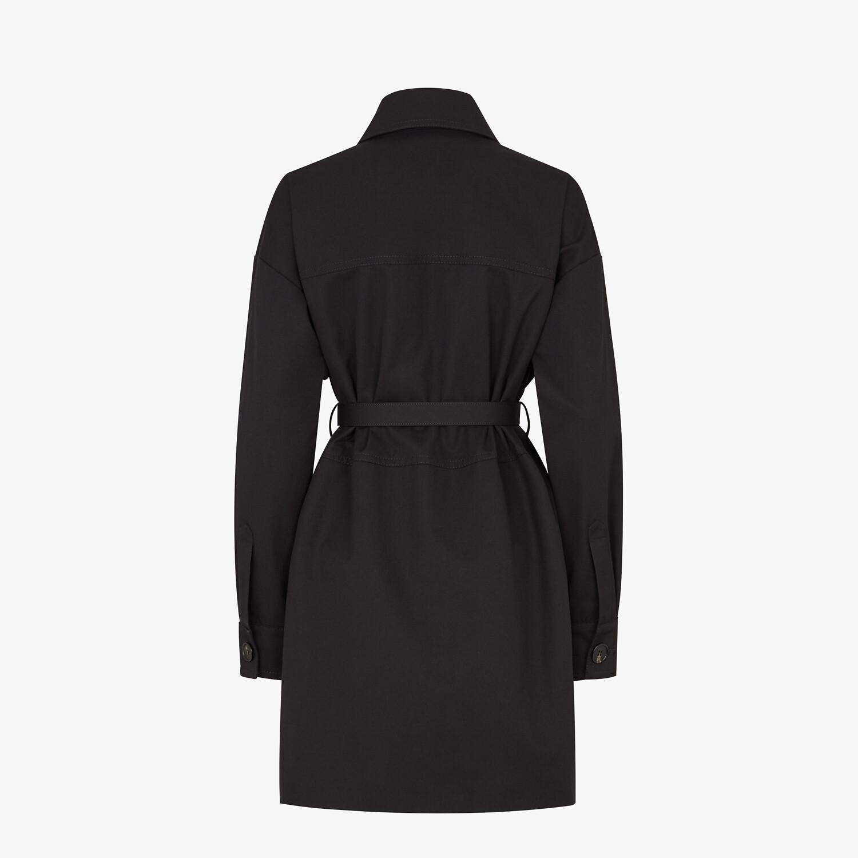 FENDI OVERCOAT - Black cotton jacket - view 2 detail