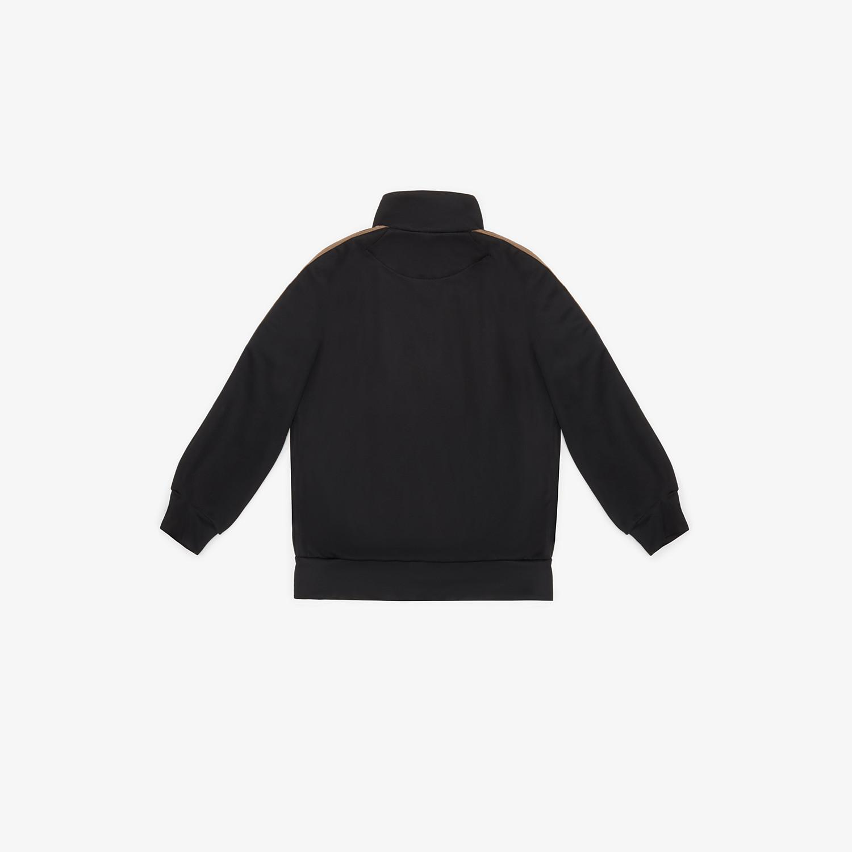 FENDI SWEATSHIRT - Black tech fabric sweatshirt - view 2 detail