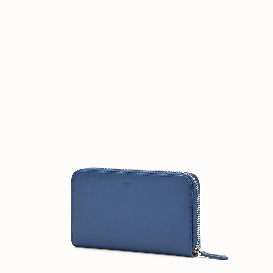 FENDI WALLET - Blue leather wallet - view 2 detail