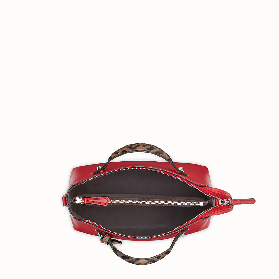 FENDI BY THE WAY REGULAR - Red leather Boston bag - view 4 detail