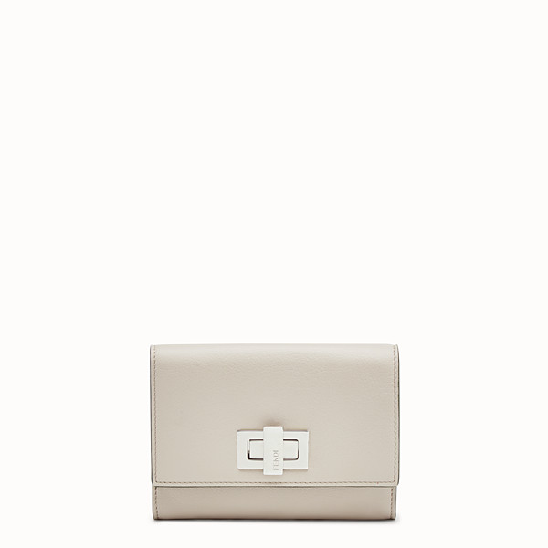 FENDI CONTINENTAL MEDIUM - Medium continental wallet in grey leather - view 1 small thumbnail