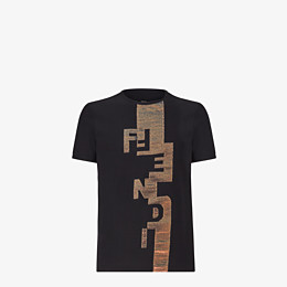 FENDI T-SHIRT - Black jersey T-shirt - view 1 thumbnail